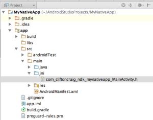 Result JNI header file
